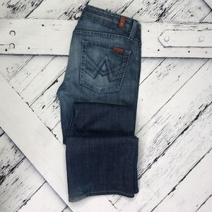 """7 FOR ALL MANKIND """"A"""" Pocket Bootcut Jeans sz 29"""